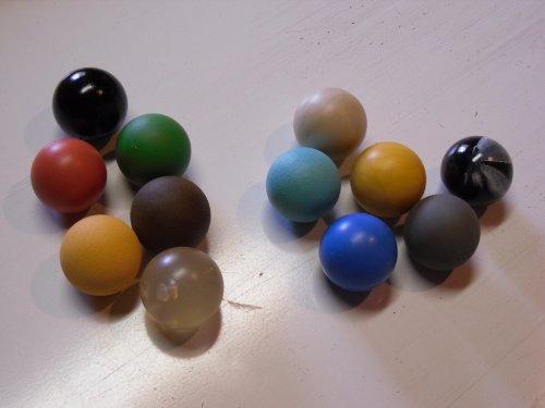 Minigolfbälle 12er Set, Spezialbälle für Hobbyspieler