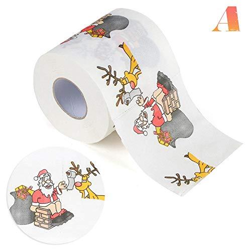 Uitomely Kerstmis toiletpapier rol bedrukt kerstmannen, kerstversiering