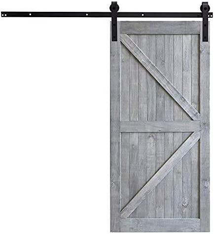 Sfeomi 244 cm Skjutdörrmonteringssats Skjutdörrsystem Komplett Set för Skjutdörrar Skjutdörrsbeslag Skjutdörr System Tillbehör Skena Dörr Hårdvara Kit
