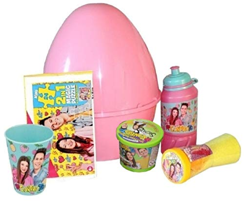 Uovo di Pasqua ME CONTRO TE Gigante in Plastica con Sorprese Giochi Me Contro Te Sofì e Luì Uovo contenitore Guscio Rosa