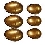 VALICLUD 6 Pezzi Uova di Pasqua Riempite Doro Uova Preriempite Giocattoli Agitatori per Uova di Pasqua Giocattoli per Uova Fai da Te per Bambini Ornamento da Tavolo Uovo per Bambini