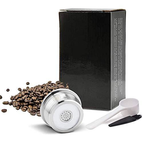 Cestbon Acero Inoxidable cápsula de café, Filtro de cápsula de café Reutilizable, cápsulas de café rellenables compatibles con Delta Q,Plata