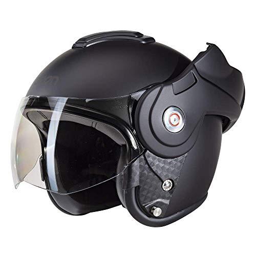 Beon B702 Reverse Matt Schwarz - Klapphelm - Motorrad helm - L
