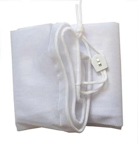 "ATIE PoolSupplyTown 16"" Width x 24"" Length Fine Mesh Leaf Bag with Pull-N-Lock Cord for Pool Leaf Vacuum/Leaf Eater/Leaf Catcher/Leaf Gulper/Leaf Bagger/Leaf Master"