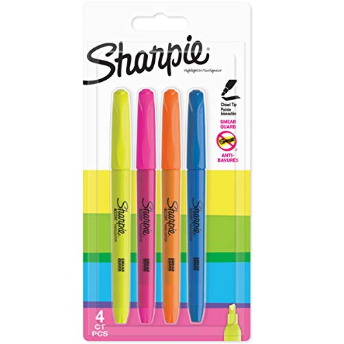 Sharpie 907200 Accent Pocket-Textmarker (Keilspitze) 4er-Pack