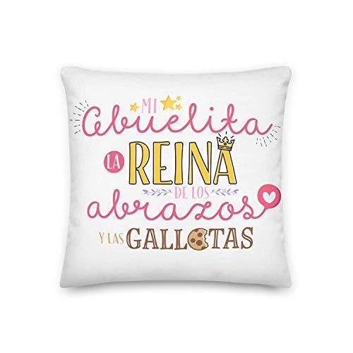 GS Kembilove Cojín para Abuela – Regalos Cojines Mujer Cumpleaños Originales – Regalos Originales Cojines con Frases Mi Abuelita es la Reina para Regalar el día de la Madre