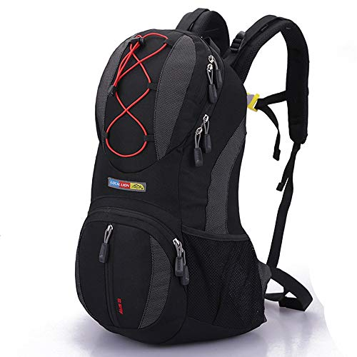 TYJKL Outdoor riding waterproof and breathable backpack Bike Bag Sports Rucksack Lightweight Outdoor Bicycle Backpack for Running Hiking Cycling Camping 22L (Color : Black, Size : 47 * 26 * 15m)