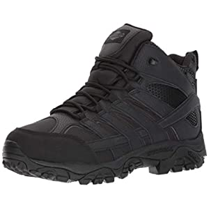 Merrell Mens Moab 2 Mid Tactical Wp, Color: Black, Size: 12, Width: M (J15853-12)