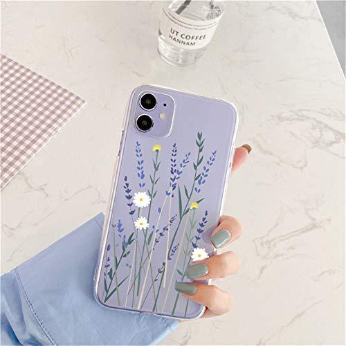 Fangke Coque pour iPhone 11 en silicone souple avec motif papillon transparent