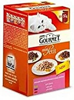 Gourmet Mon Petit Country Variety Luxury Wet Cat Food Pouch 6 x 50g (300g)