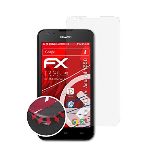 atFolix Schutzfolie kompatibel mit Huawei Ascend Y550 Folie, entspiegelnde & Flexible FX Bildschirmschutzfolie (3X)