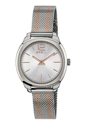 Breil Reloj Analógico para Mujer de Cuarzo con Correa en Acero Inoxidable TW1716
