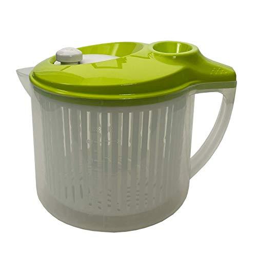 Snips, Transparent mit grünem Deckel Wash&Dry Salatschleuder, 3 Liter, 0{588ed44b5b0e46e84ccbf67bb89d96d84ef43f8a26f53ce528f8c6cd8a99483b} BPA Kunstoff, Made in Italy, Kunststoff, 3 LT