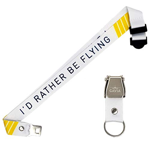 I'd rather be flying Lanyard - Aviation Gifts - Pilot Gifts - Plane Lanyard