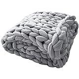 Manta de Punto Grueso Hecho a Mano por Hacer Punto Suave Tiro de la Cama Decoración del Dormitorio voluminosos Sofá Sofá Decoración acondicionador de Aire de la Manta del sofá de la Manta