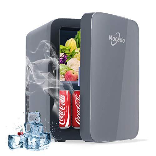Mini Fridge Skincare Makeup Refrigerator - Small Portable AC/DC Freezer (10 Liter/20 Can) Glass Door Cooler & Warmer For Skin Care, Breastmilk, Medications, Bedroom, Car, Dorm