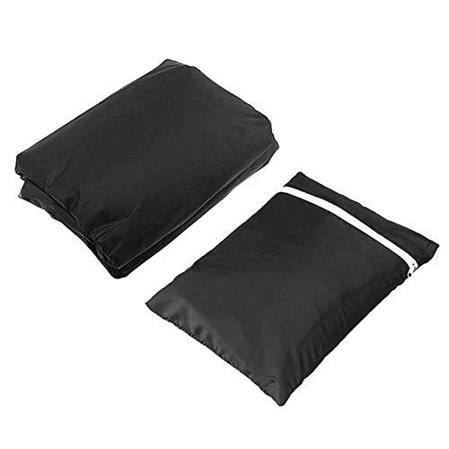 BiuZi Hangstoelovertrek voor buiten, 1Pc 210D polyestervezel, waterdicht, stofdicht, hangstoel voor buiten, schommelstoel, zonwering voor de tuin in binnenplaats zwart