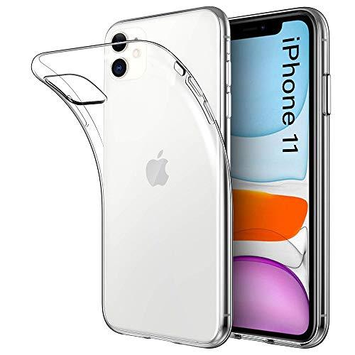 REY - Funda Carcasa Gel Transparente para iPhone 11, Ultra Fina 0,33mm, Silicona TPU de Alta Resistencia y Flexibilidad