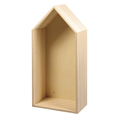 RAYHER 62595000 Holz Rahmen Haus FSC Mix Credit, 29,3 x 14,3 x 8 cm