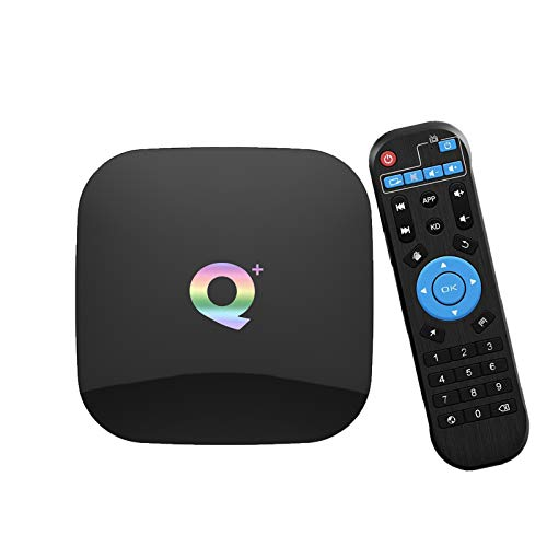 Android TV Box,Android 9.0 Boxes 4GB RAM/32GB ROM H6 Quad-Core Support 2.4 GHz WiFi USB 3.0 6K Ultra HD Q Plus Smart TV Box