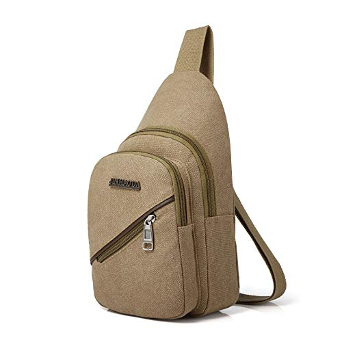 Heren Canvas Borstzak Mode Casual Sport Schoudertas Diagonal Heren Tas Trend Kleine Rugzak