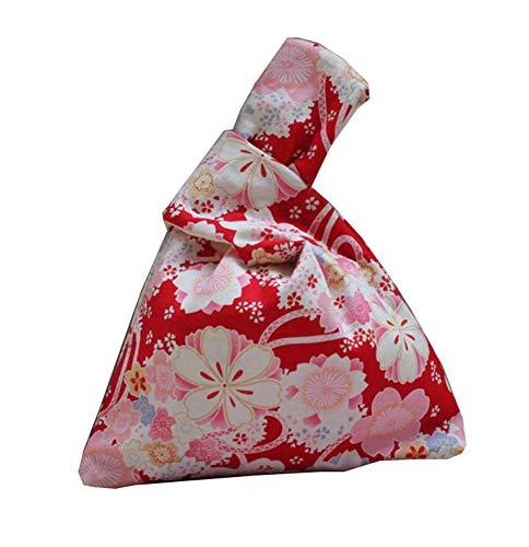 Generic Japanische Kimono-Knotentasche Totes Wallet Satchels Strandtasche klein -A16
