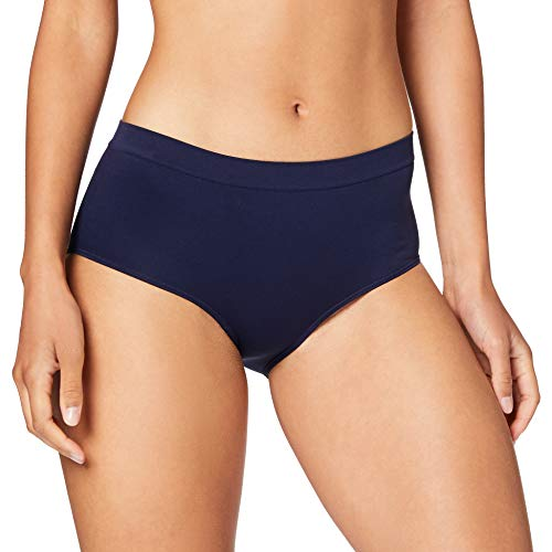 Dim Boxer ECODIM Microfibre sans Couture X2 Underwear, Bleu Infini/Rose Ballerine, Medium Womens