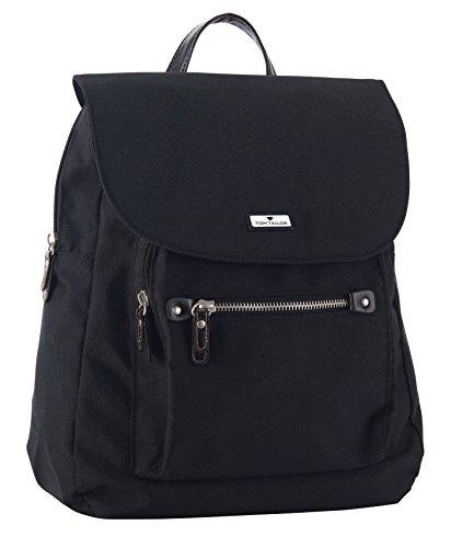 TOM TAILOR Rucksack Damen RINA, (schwarz 60), 28x33x12 cm, TOM TAILOR Rucksackhandtasche, Damenrucksack, Handtasche