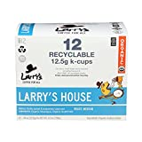 Larry's Coffee Medium Roast Recyclable kcups Blend, Larry's House, 12 Count