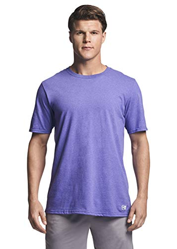 Russell Athletic Men's Cotton Performance Short Sleeve T-Shirt, Retro Heather Purple, M