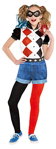 GIRLS CLASSIC HARLEY QUINN COSTUME - X-LARGE (10 - 12 YEARS)