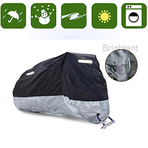RockyMRanger Breathable Motorcycle Cover Cruisers Touring Bikes Storage YM3YB