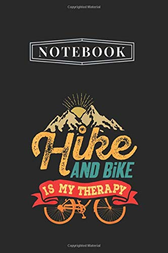 Notebook: Hike And Bike Sport Casual Notebook White Paper Blank Journal with Black Cover Medium Size 6'' x 9'' with 110 Pages Makes A Wonderful Gifts For Love Ones