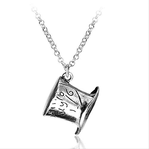 Ahuyongqing Co.,ltd Necklace Movie Alice in Wonderland Necklace Vintage Mad Hatter Hat Pendant Link Chain Alloy Pendant Jewelry Accesories for Women