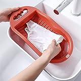 MISINIO Mini PP Que se Lava la Tabla de Fregar plástica casera Antideslizante para el Lavado a Mano del lavadero-Rosado Incomparable