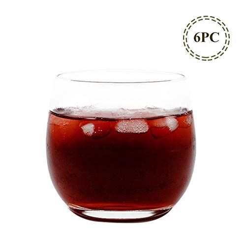 Umi.by Amzon Whiskeygläser Weingläser für Wasser Wein Whisky Set von 6*400ml