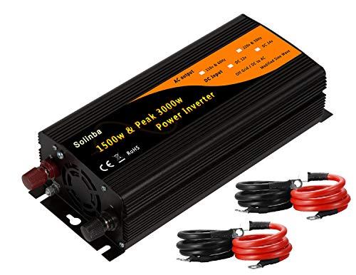 Solinba Kfz-Wechselrichter Spannungswandler 1500 W, DC 12 V auf AC 220 V, 50 Hz (DC12)