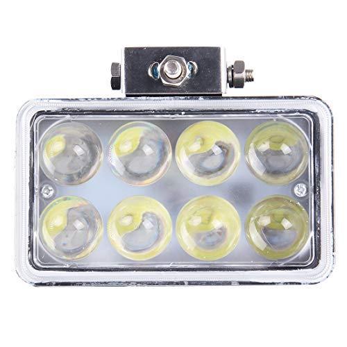 Wdckxy 4 Pouces DC 9-36V 40W 3800LM 6000K IP67 Étanche carré de Voiture Squared Spotlight Spot Spot Light Foglight Ampoules de Voiture à LED avec 8 voyants LED (lumière Blanche)