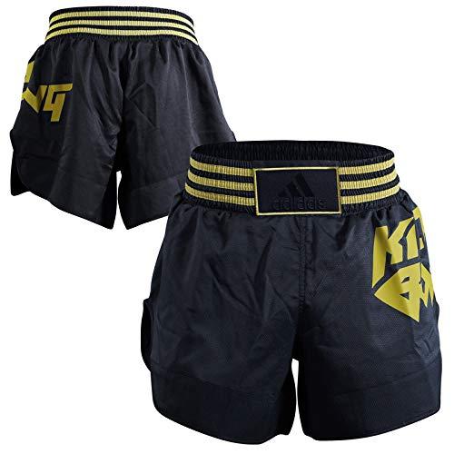 adidas Erwachsene Kick Boxing Shorts, schwarz/Gold, L