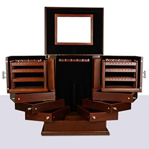Sweet Schmuckkästchen Aus Holz, Groß Schmuckbox, Damen Aufbewahrungsbox Für Schmuck, Schmuckkiste Für Ohrringe, Halsketten, Armbänder, Uhren, Haarnadeln,B