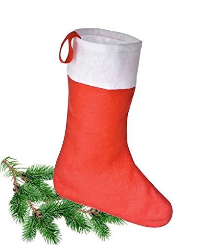 TK Gruppe Timo Klingler 8X Weihnachtsstrumpf, Nikolausstiefel, Weihnachtssocken, Nikolausstrumpf, Nikolaus Socke Strumpf zum Aufhängen und Befüllen an Weihnachten und Nikolaus (8X Nikolaussocken)