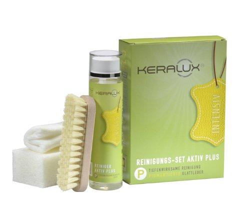 KERALUX Reinigungsset Aktiv Plus gegen Farbabrieb von Kleidung und Fettschmutz 250 ml Reiniger Plus Zubehör