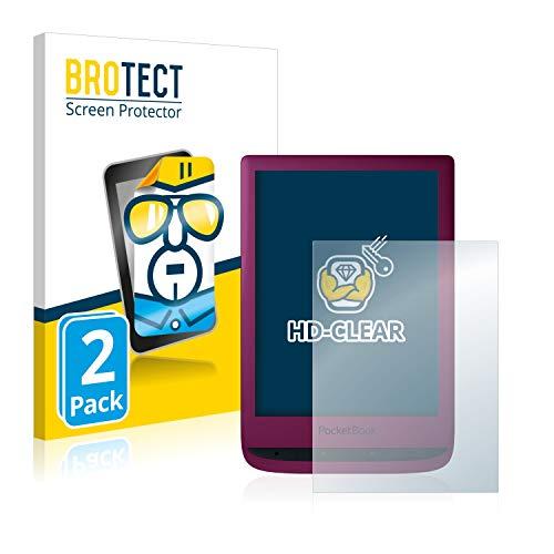 BROTECT 2x Schermbeschermer compatibel met PocketBook Touch Lux 5 Screen protector transparant