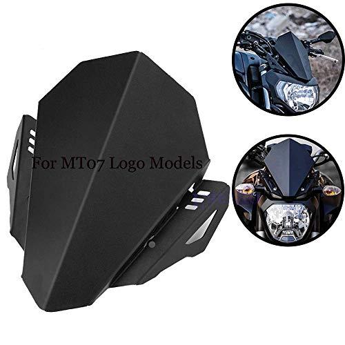 Easygo for Yamaha MT07 MT-07 2018-2019 Motorcycle Windshield Windscreen Bracket Aluminum Upper Mounts Headlight Top Mount Cover Panel Fairing (for MT07 18-19)