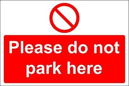 gelieve niet parkeren hier veiligheid teken stickers, waarschuwing stickers labels, zelfklevende Vinyl,veiligheid kennisgeving waarschuwing teken stickers, 30x20CM