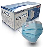 MagiCare Disposable Face Masks Made in USA - ASTM Level 1 Medical Masks - Premium 3 Ply Face Mask for Adults - Comfortable, Soft, Breathable Face Masks - Blue, 50ct Box