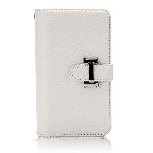 HARRMS portemonnee met mobiele telefoonhoes telefoonvak compatibel met iPhone 7, iPhone 8 met creditcardvakje geldklemmen leren hoes magneet beschermhoesje, dames/heren