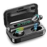 Auriculares Bluetooth 5.0, Auriculares Inalámbricos con Hi-Fi Estéreo, Cascos Inhalabricos In Ear con Control Táctil, Reducción de Ruido CVC 8.0 para Android/Samsung/Huawei