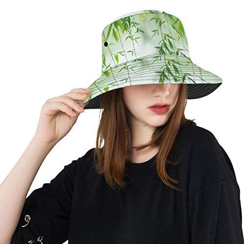 Riesen Sonnenhut Green Willow Leaves Im Frühjahr Sommer Unisex Angeln Sun Top Eimer Hüte Für Jugendliche Frauen Fischer Kappe Outdoor Sport Eimer Hut