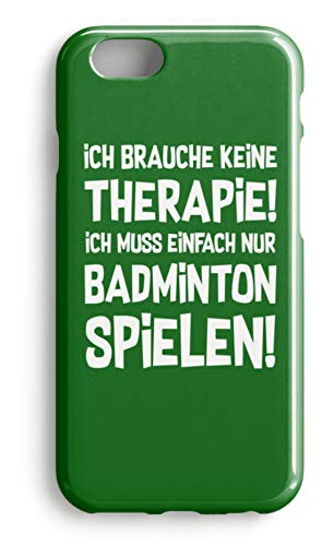 shirt-o-magic Handyhülle Badminton Federball: Therapie? Lieber Badminton! - Case -iPhone 7 Plus-Kelly Green